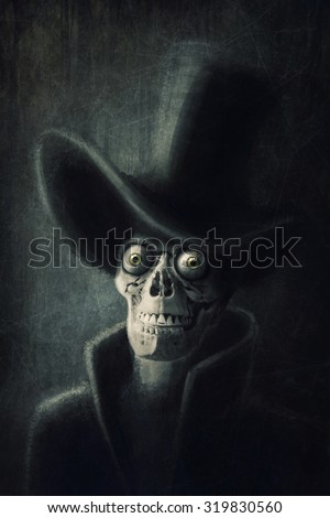 Death with the top hat - stock photo