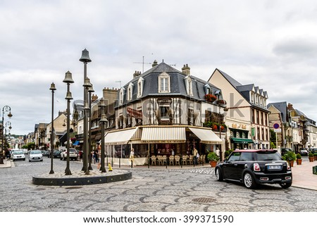 DEAUVILLE, FRANCE - JULY 18, 2012: City view of Deauville. Deauville is a commune in Calvados department in the Basse - Normandie region in northwestern France near the Channel.