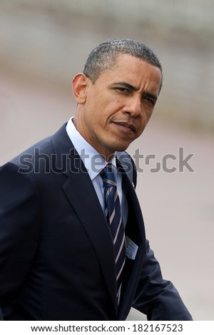DEAUVILLE, FRANCE - MAY 27, 2011 : President of United State Barack Obama at the summit G8/G20 - Deauville, France on May 27 2011