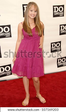 "Debby Ryan  at ""The Do Something Awards"" Pre Party for The 2008 Teen Choice Awards. Level3, Hollywood, CA. 08-02-08"