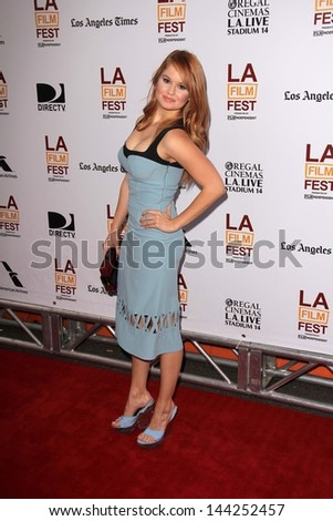 "Debby Ryan at ""The Way Way Back"" Premiere as part of the Los Angeles Film Festival, Regal Cinemas, Los Angeles, CA 06-23-13"