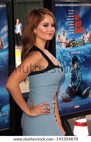 "Debby Ryan at ""The Way Way Back"" Premiere as part of the Los Angeles Film Festival, Regal Cinemas, Los Angeles, CA 06-23-13 - stock photo"