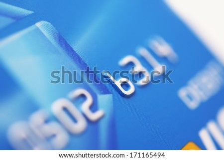Debit Card - Digital Payments Processing System. Bank Card. Financial Photo Collection. - stock photo