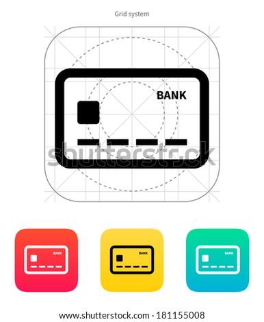 Debit card icon. - stock photo