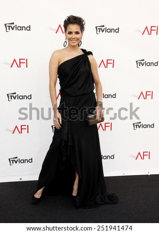Deborah Secco at the 40th AFI Life Achievement Award Honoring Shirley MacLaine held at the Sony Studios in Los Angeles, United States, 070612.  - stock photo