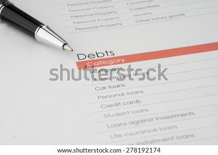 Debts Category