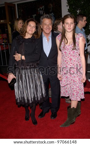 Dec 16, 2004; Los Angeles, CA: Actor DUSTIN HOFFMAN & wife LISA at the Los Angeles premiere of his new movie Meet the Fockers.