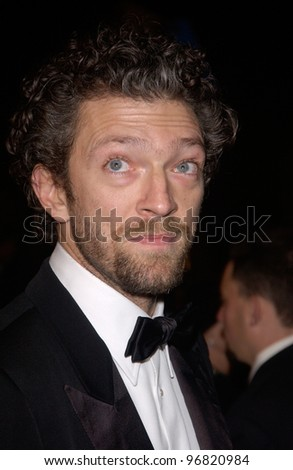 Dec 8, 2004; Los Angeles, CA: Actor VINCENT CASSEL at the Hollywood premiere of his new movie Ocean's Twelve.