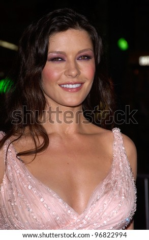 Dec 8, 2004; Los Angeles, CA: Actress CATHERINE ZETA-JONES at the Hollywood premiere of her new movie Ocean's Twelve. - stock photo
