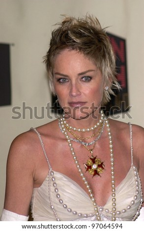 Dec 1, 2004; Los Angeles, CA: Actress SHARON STONE at the VH1 Big in '04 Awards at the Shrine Auditorium, Los Angeles. - stock photo