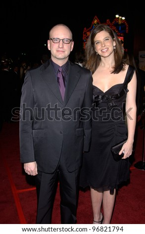 Dec 8, 2004; Los Angeles, CA: Director STEPHEN SODERBERGH & wife JULES ASNER at the Hollywood premiere of his new movie Ocean's Twelve.