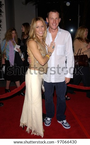 Dec 16, 2004; Los Angeles, CA: Singer SHERYL CROW & cyclist LANCE ARMSTRONG at the Los Angeles premiere of Meet the Fockers.
