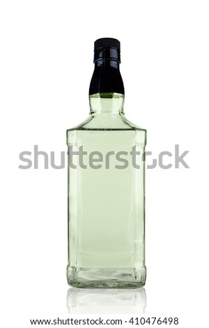 Decanter tall On a white background