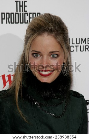 December 12, 2005. Christina Moore attends the Producers World Premiere at the Westfield AMC Theatres in Century City, California United States.  - stock photo