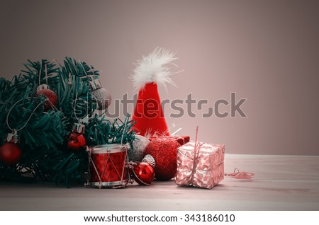December 25 is a Christmas day , the Christmas tree decorate with colorful toy  - stock photo
