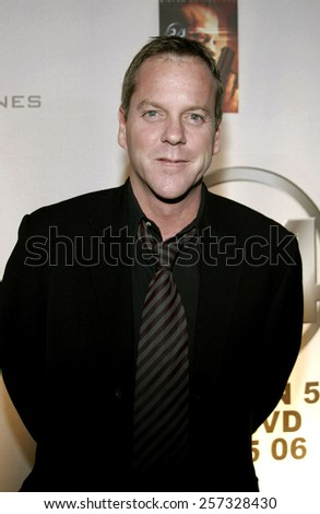 December 4, 2006. Kiefer Sutherland attends the '24' Season Five DVD Release held at the Les Deux in Hollywood, California United States.