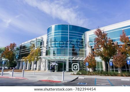 facebook office usa. December 27, 2017 Menlo Park / CA USA - Instagram Office Building Located In Facebook Usa G