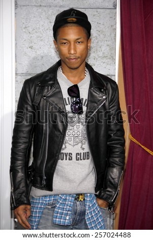 "December 6, 2011. Pharrell Williams at the Los Angeles premiere of ""Sherlock Holmes: A Game Of Shadows"" held at the Regency Village Theatre, Los Angeles.  - stock photo"
