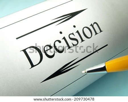 Decision and choice - stock photo