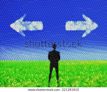 Decision making - stock photo