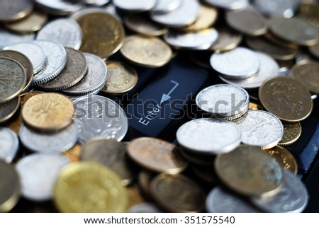 decision making, Save money, photo of stack coin for growing your business, currency economic work, job, task, fair, service, stock market - stock photo