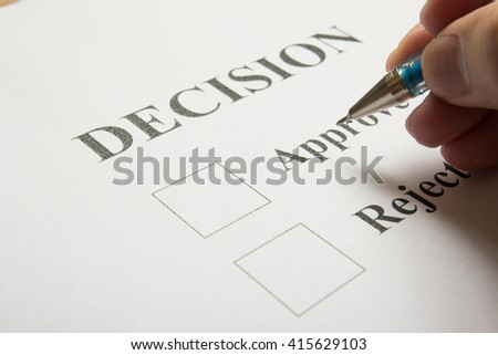 Decision paper waiting for check