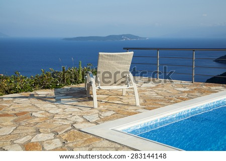 Deck chair with a breathtaking view