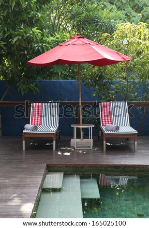 Deck chairs. - stock photo