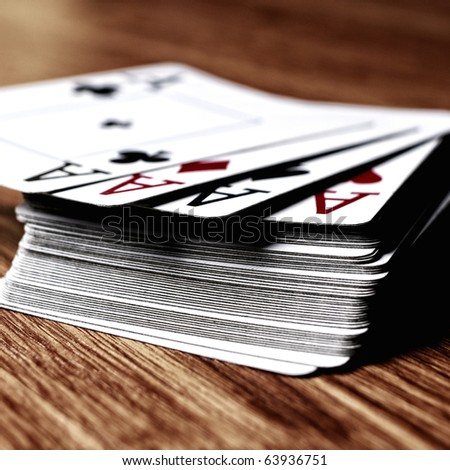 Deck of cards. - stock photo