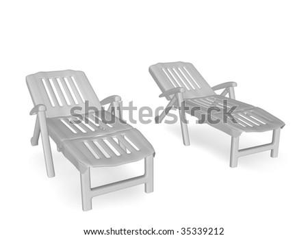 deckchairs - stock photo