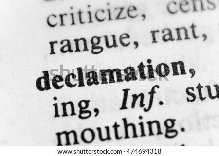 Declamation about sportsmanship