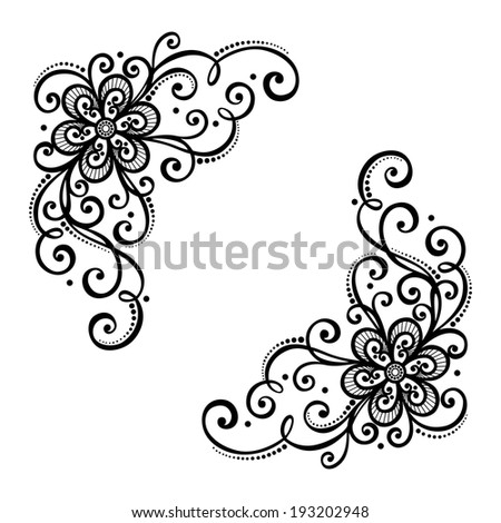 Beautiful lilies abstract flowers stock vector 182664719 for Element deco design