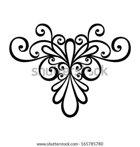 Flower stock vector 52931128 shutterstock for Element deco design