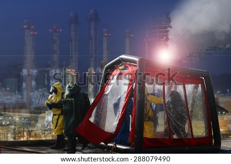 Decontamination  for Hazmat emergency response . - stock photo