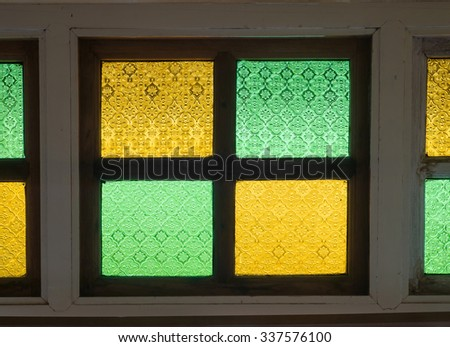 Decorate Color glass window