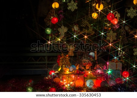 Decorate merry christmas and happy new year / select focus