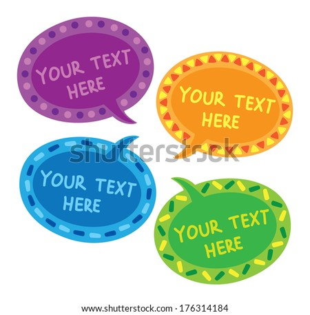 decorated bubble speech