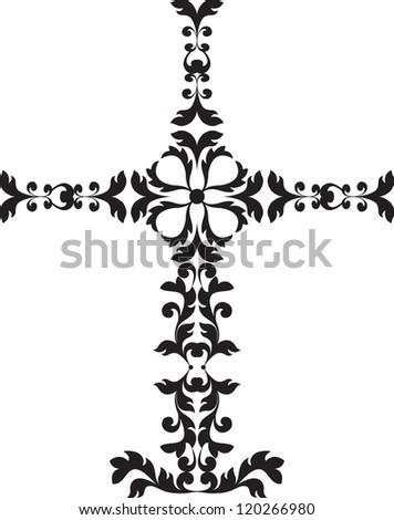 Decorated christian cross - stock photo