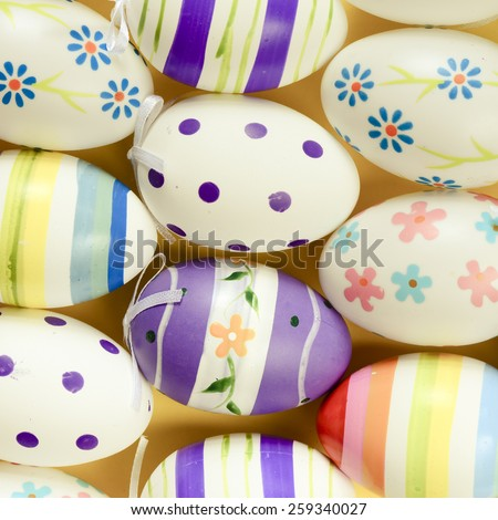 Decorated Easter eggs. Decorated Easter eggs on background