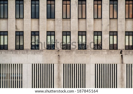 Decorated windows on a building - stock photo