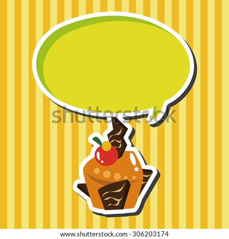 decorating cake, cartoon speech icon