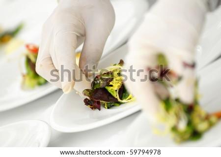 Decorating food - stock photo
