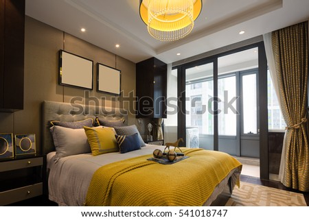 decoration and design of modern bedroom. Modern Bedroom Stock Images  Royalty Free Images   Vectors