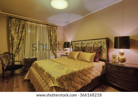 decoration and furniture in luxury bedroom