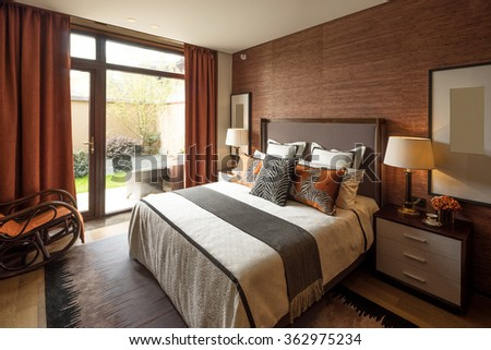decoration and furniture in modern bedroom. Bedroom Stock Images  Royalty Free Images   Vectors   Shutterstock