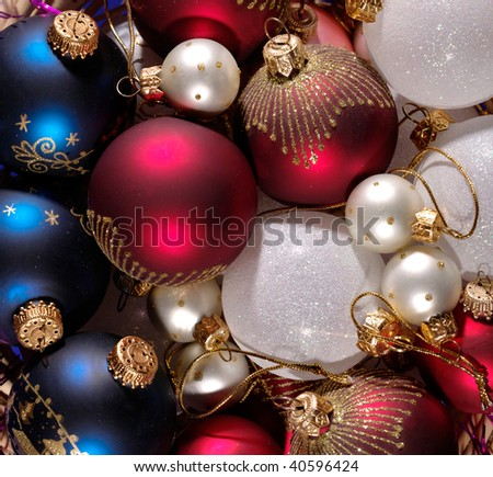 decoration balls as Christmas background