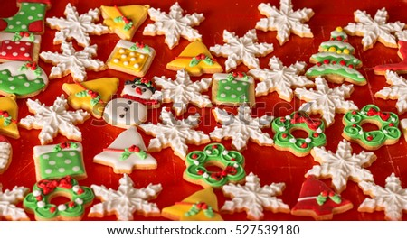 decoration cookies, christmas gingerbread
