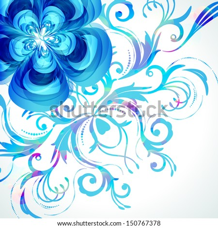 Decoration floral background.