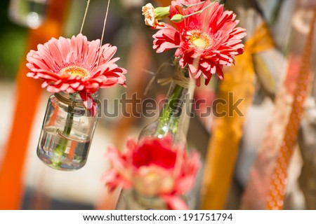 Decoration for a wedding - stock photo