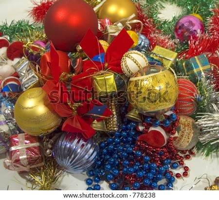 Decoration for Christmas and New Year - stock photo